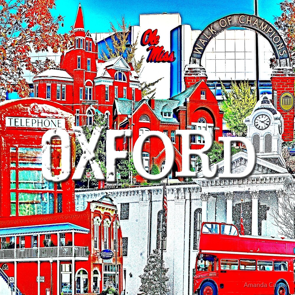 Oxford Square Collage by Amanda Carper