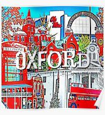 Oxford Square Collage Poster