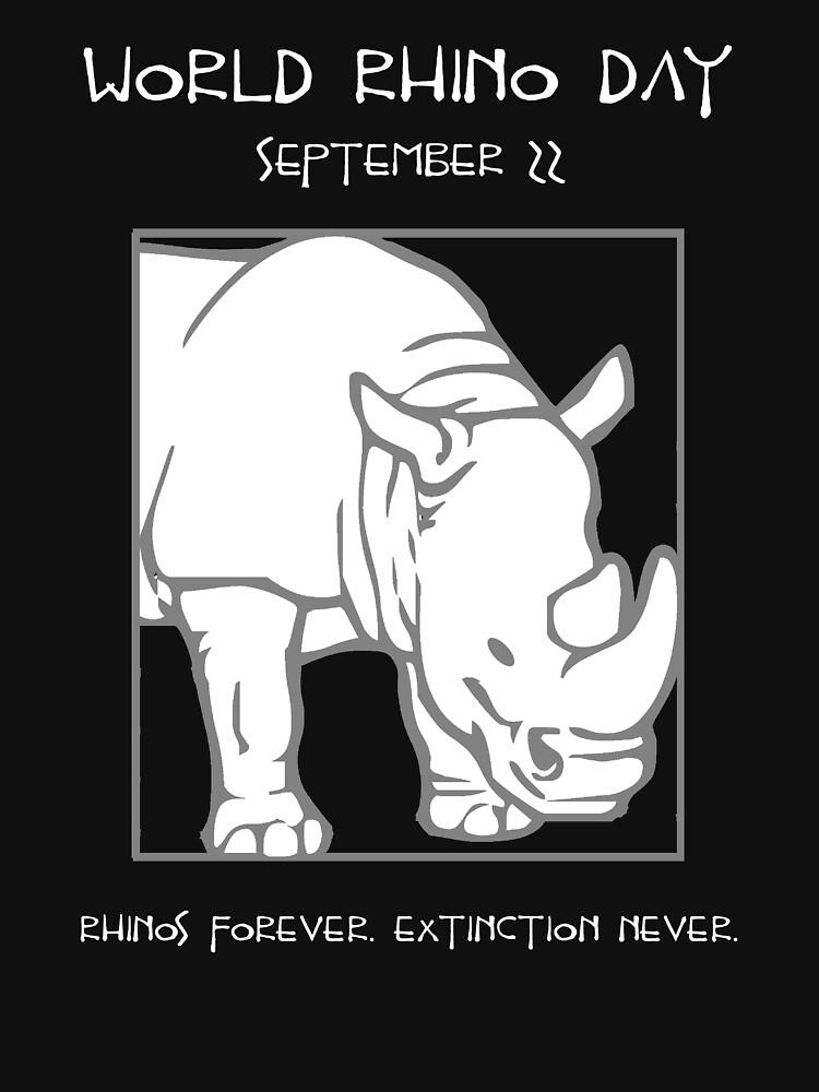 World Rhino Day -- Rhinos Forever. Extinction Never. by oddmetersam