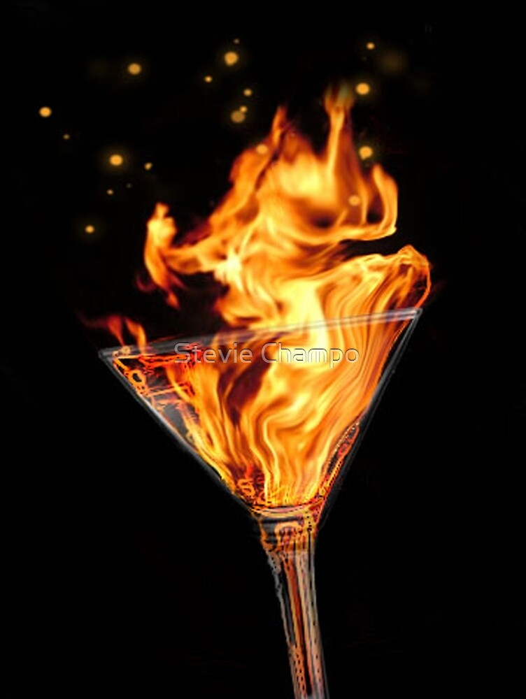 Flaming Martini by Sromot4