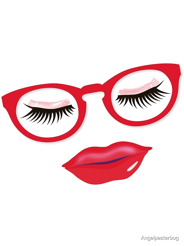 Glasses Are Pretty in Red by Angelpesterbug