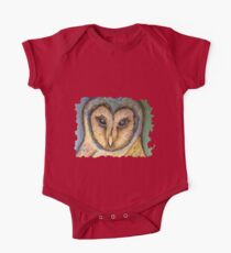 Majestic Owl Oil Pastel One Piece - Short Sleeve