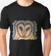 Majestic Owl Oil Pastel Unisex T-Shirt