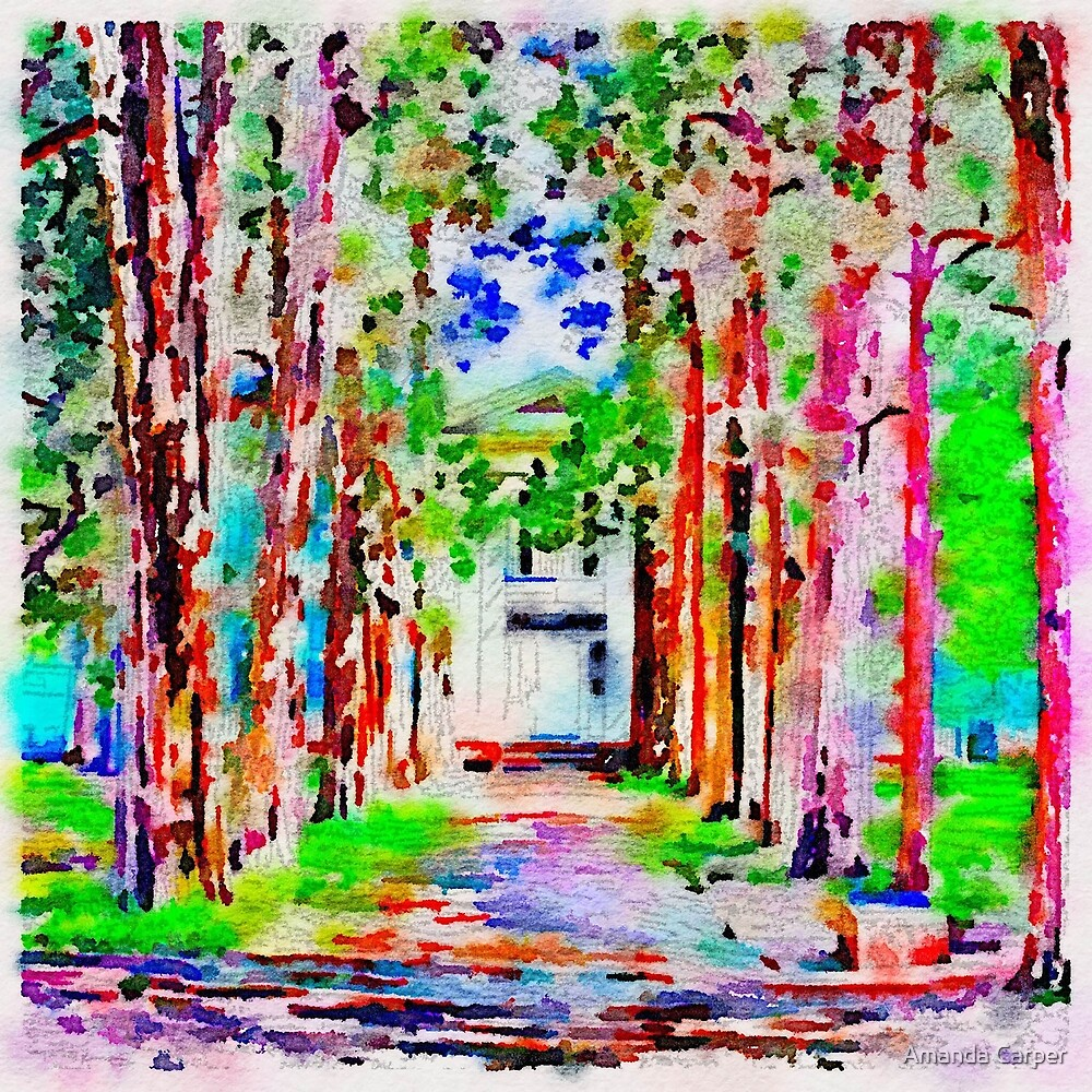Rowan Oak Digital Painting by Amanda Carper
