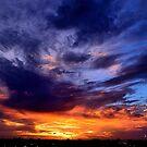 Miami sunset skies by LUISPENA