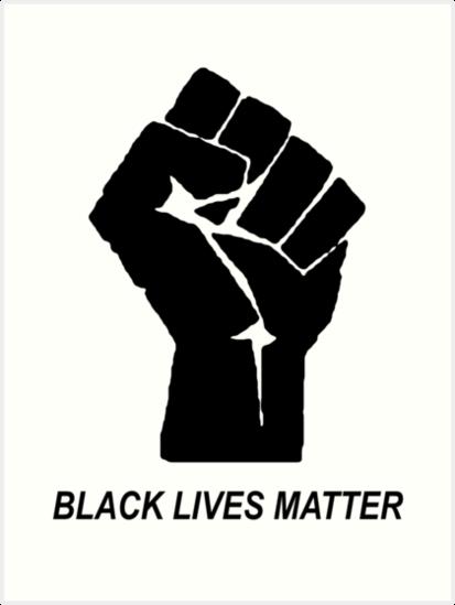 "Black Lives Matter"" Art Print by cvx-official | Redbubble"