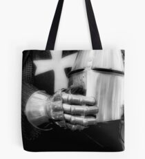The Gauntlet And The Helmet Tote Bag