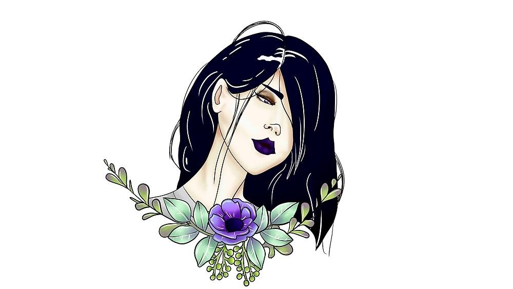 Garland Girl by ria-draws