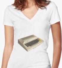 Atari 800 - Classic 8 Bit Computer - Retro 80s Women's Fitted V-Neck T-Shirt