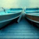 Row Boats At Pyramid Lake by Bob Christopher