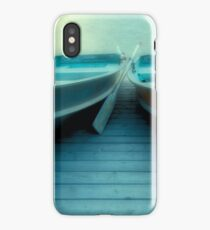 Row Boats At Pyramid Lake iPhone Case