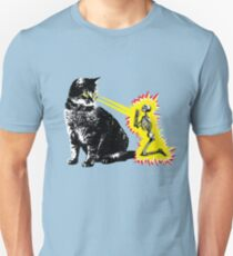 What your cat is really thinking, cat death ray T-Shirt