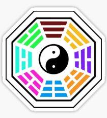 Yin yang coloured  Sticker