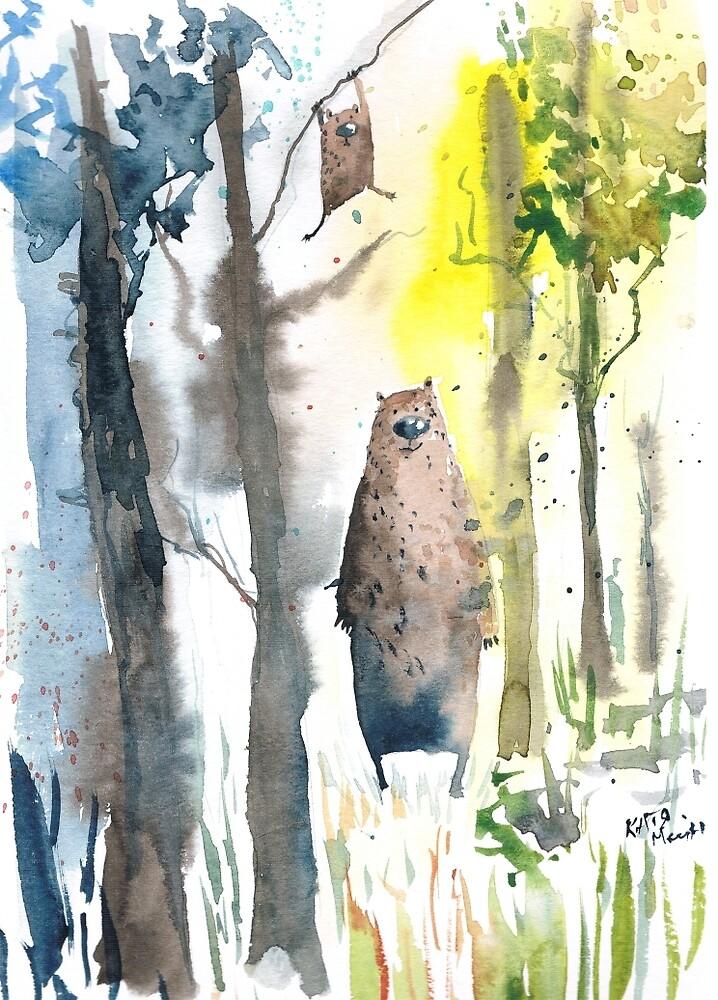 Bears in wood by main