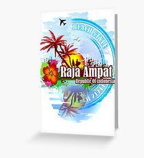 Raja Ampat Republic Of Indonesia Greeting Card