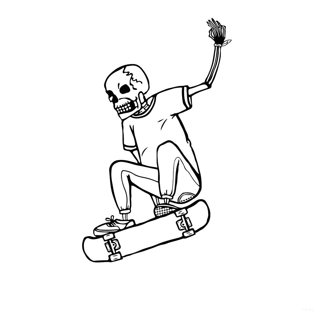 Cool skeleton skater by napavi