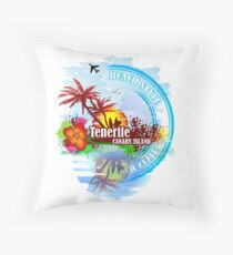 Tenerife Canary Island Throw Pillow