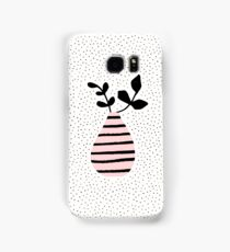 Pink Stripes and Branches Samsung Galaxy Case/Skin