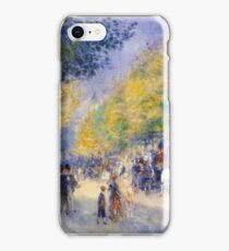 Renoir Auguste - The Great Boulevards 1875 iPhone Case/Skin