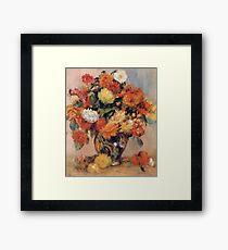 Renoir Auguste - Vase Of Flowers Framed Print