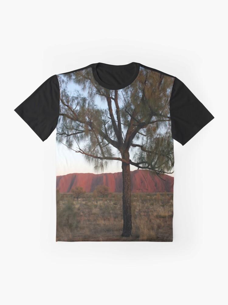Alternate view of Uluru and the Tree Graphic T-Shirt