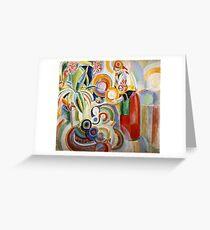 Robert Delaunay - Portuguese Woman  Greeting Card