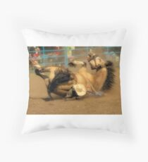 Rodeo Crunch Time Throw Pillow
