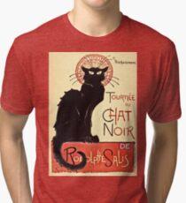 Theophile Alexandre Steinlen - Tournee Du Chat Noir De Rodolphe Salis  Tri-blend T-Shirt