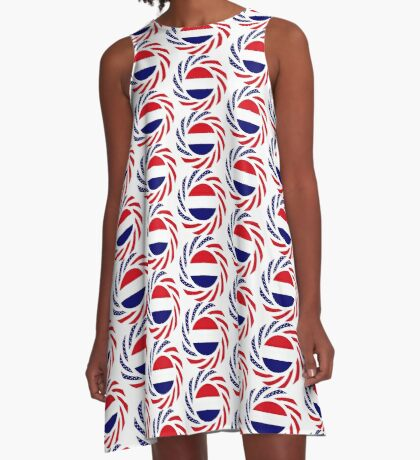 Dutch American Multinational Patriot Flag Series A-Line Dress