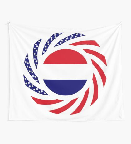 Dutch American Multinational Patriot Flag Series Wall Tapestry