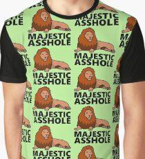 Majestic Asshole Lion Graphic T-Shirt