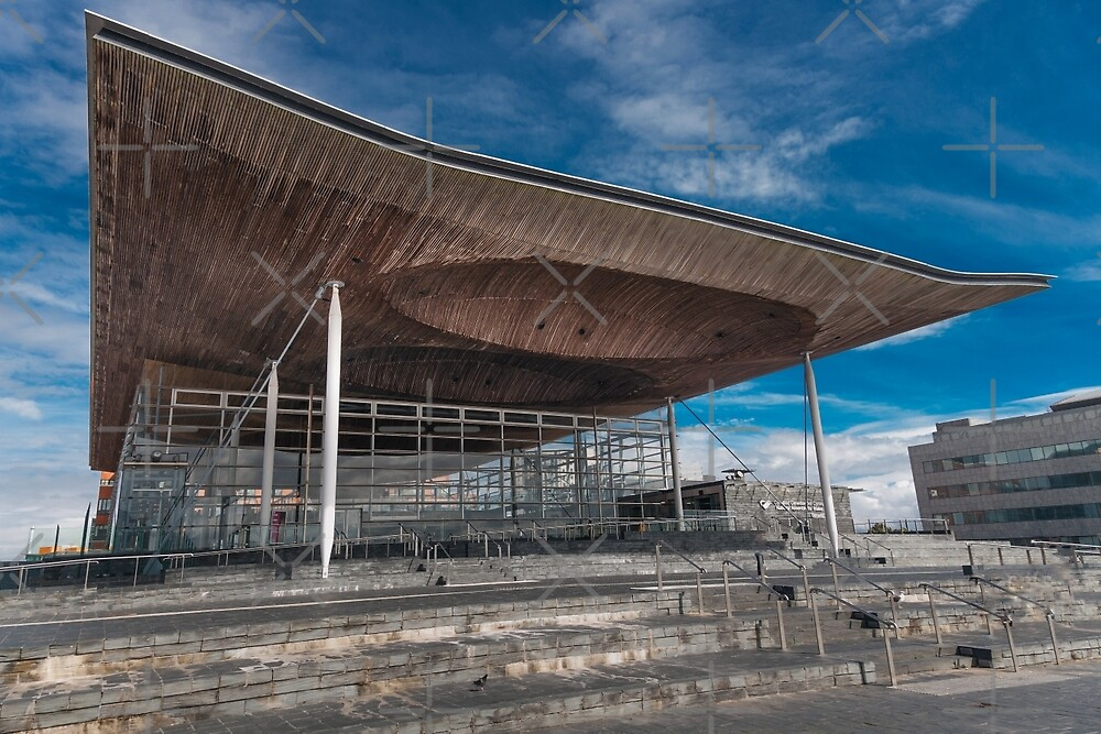 The Senedd National Assembly building by Leighton Collins