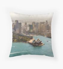 Sydney from the Sky Throw Pillow