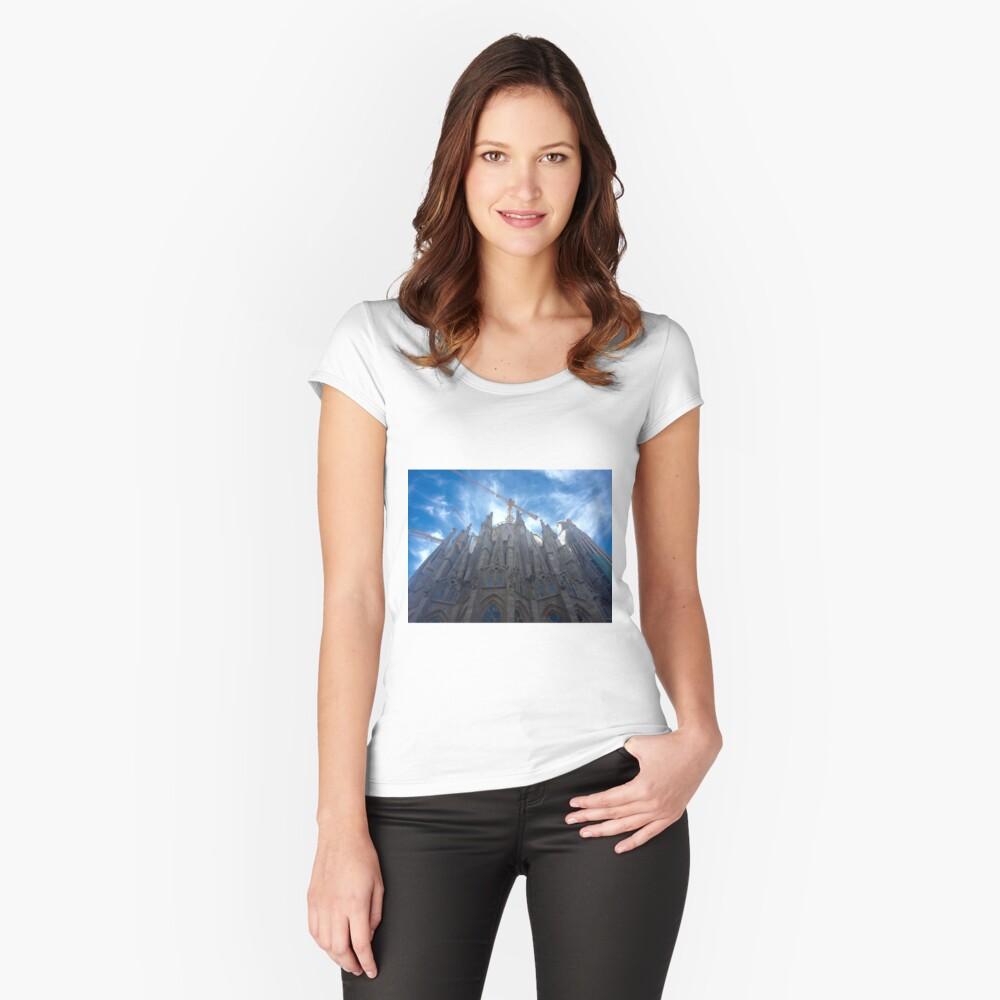 Sagrada Familia Women's Fitted Scoop T-Shirt Front