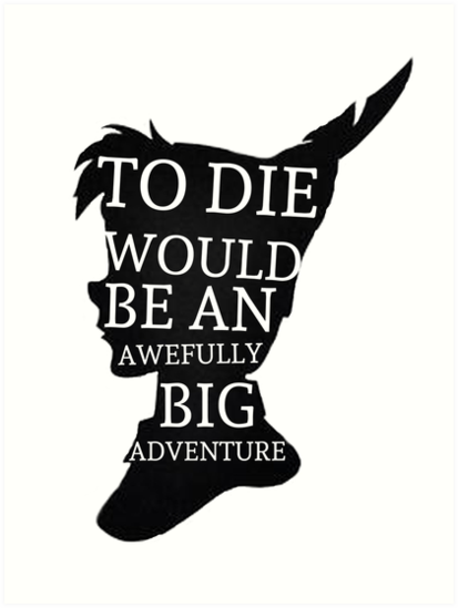 peter pan quote silhouette big adventure by alyssa clark