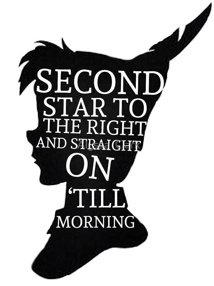 Quot Peter Pan Quote Silhouette Second Star Quot By Alyssa