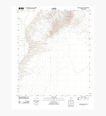 USGS TOPO Map Arizona AZ Moon Mountain NE 20111121 TM Photographic Print