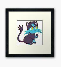 Litten-Fan Shiny Framed Print