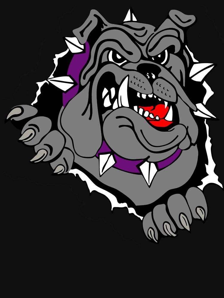 angry bulldog by rizkymaulida