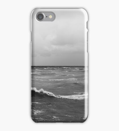 Brighton Waves - Black and White iPhone Case/Skin