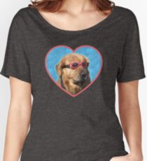 Doggo Stickers: Swimmer Dog Women's Relaxed Fit T-Shirt