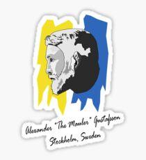 """Alexander """"The Mauler"""" Gustafsson Sticker"""