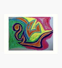 Oiled Yin and Yang Art Print