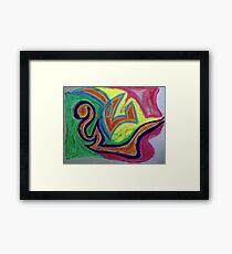 Oiled Yin and Yang Framed Print