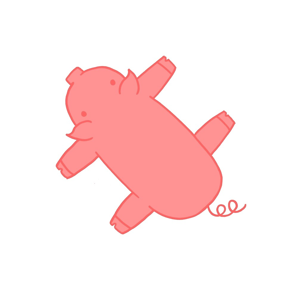 Pink Flat Carpet Pig by Elia Coan