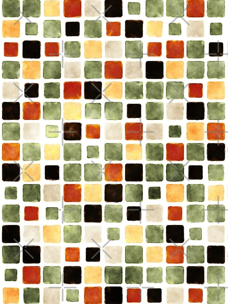 Grunge Pattern Watercolor Tiles by perkinsdesigns