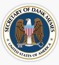 Secretary of Dank Memes Seal Sticker