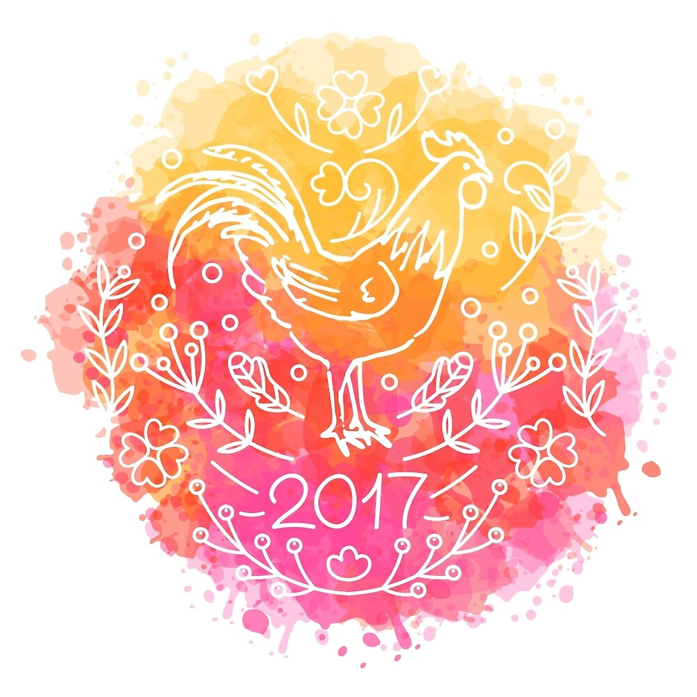 2017 Chinese New Year of the Rooster by KamimiArt