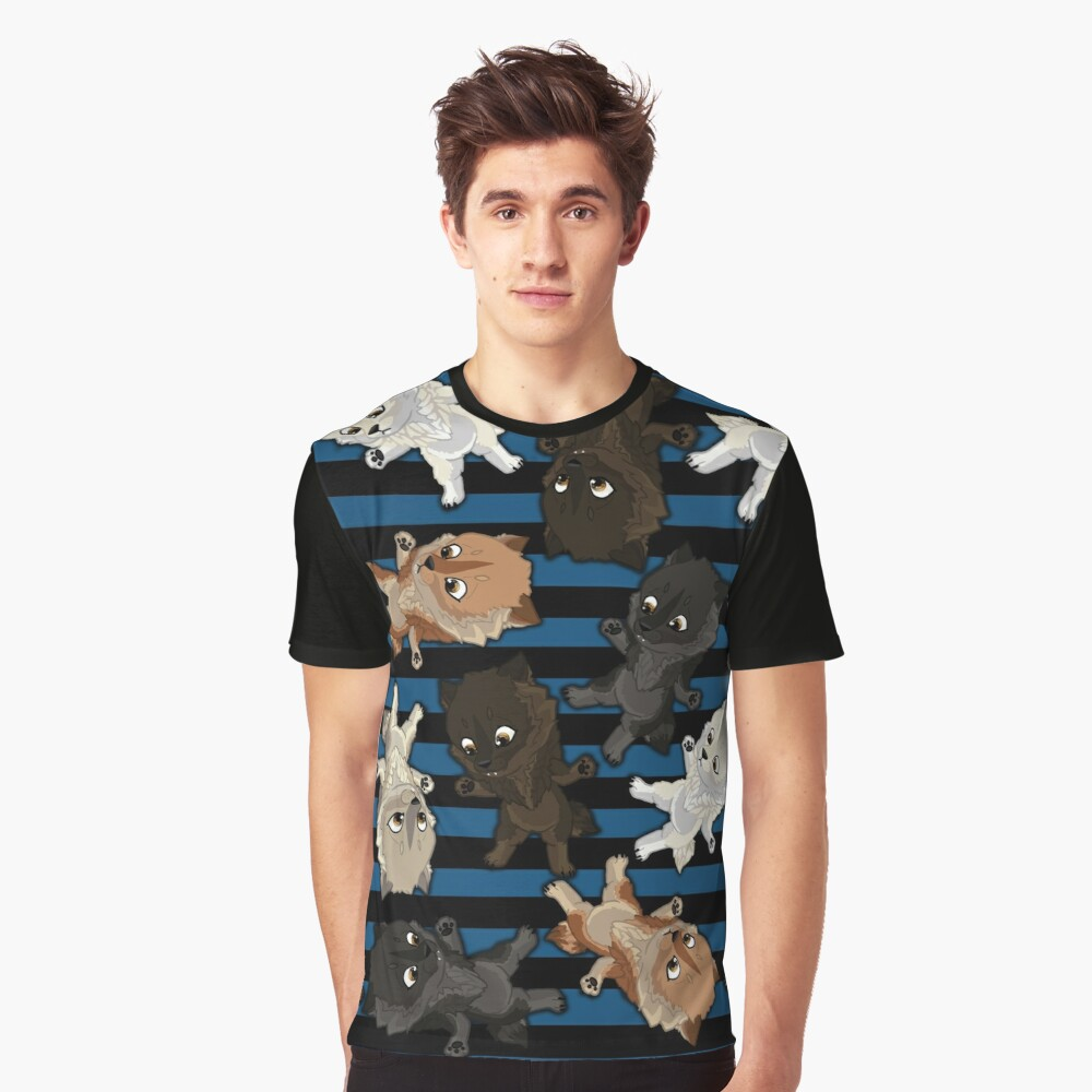 Topsy turvy Werepups - blue Graphic T-Shirt Front