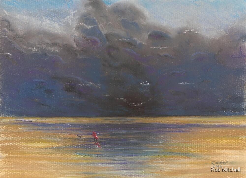 Windy walk on Brancaster Beach by Rob Mitchell